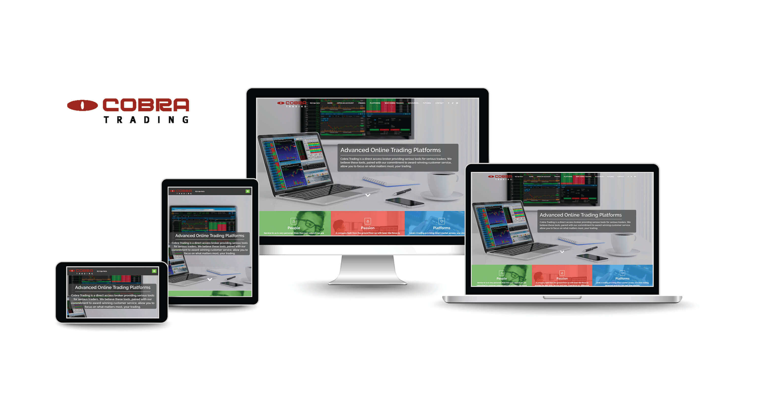 website design company for online trading firms