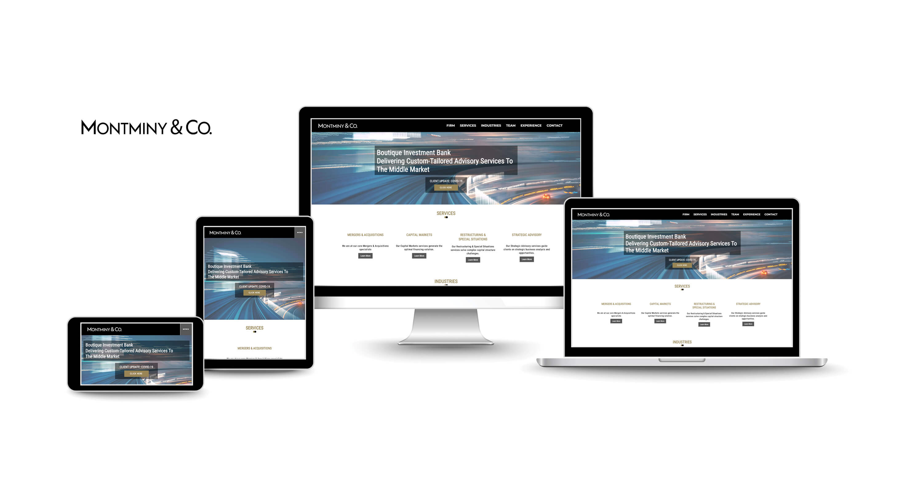 website design company for investment banking firms